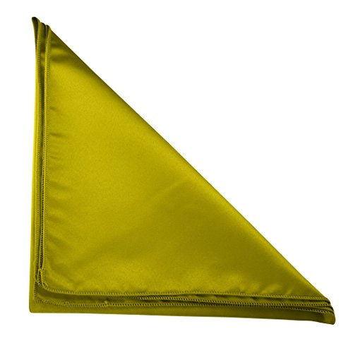 Ultimate Textile (100 Dozen) Satin 10 x 10-Inch Cocktail Napkins - for Wedding, Special Event or Banquet use, Acid Green by Ultimate Textile