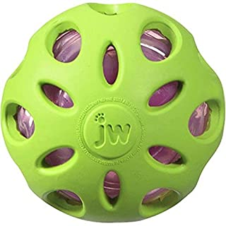 JW Pet Company Crackle Heads Crackle Ball Dog Toy, Medium, Colors Vary