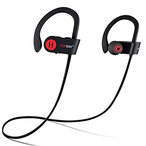 Bluetooth Headphones, HOPDAY U8 V4.1 Wireless Headphones, In-Ear Bluetooth Earbuds, Built-in Mic, Stereo Sound, Noise Cancelling IP68 Waterproof Sweatproof Wireless Earbuds for Running and (Waterproof Stereo Bluetooth)