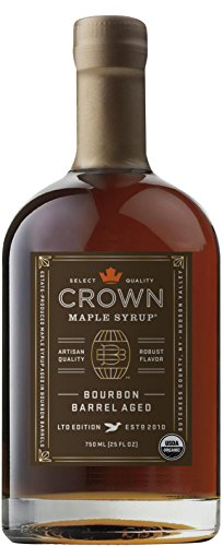 - Crown Maple Organic Grade A Maple Syrup, Bourbon Barrell Aged, 25.4 Ounce