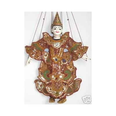 Thai Marionette Hand Made Puppets, Medium Large Best Price From Thailand: Toys & Games