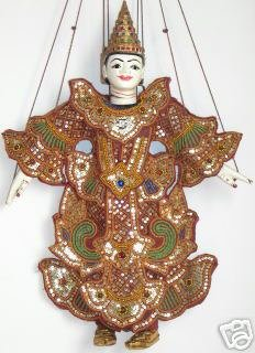 Thai Marionette Hand Made Puppets, Medium Large Best Price Free Shipping From - Prices Shipping