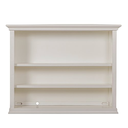 Evolur Sawyer/Napoli Hutch in Distressed White, Furniture