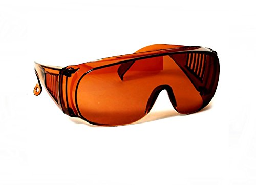 Large Fit Over Sunglasses Blue Blocking Amber UV Protection By CSC by Cleveland Sunglasses Co.