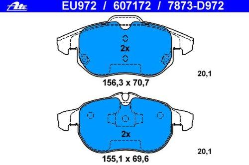 Scheibenbremse ATE 13.0460-7172.2 Bremsbelagsatz