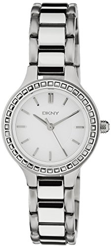 DKNY Chambers Silver-Tone Stainless Steel with Glitz Women's watch #NY2220