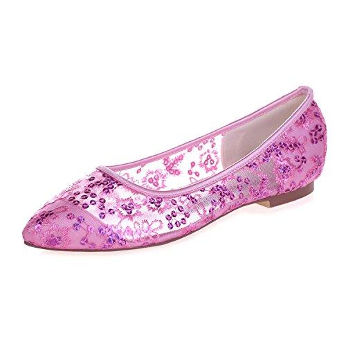 Plano Bomba Del La Cordón Pink yc L Planos 2046 Dedo Corte Cinta Pie 18 Zapatos De Femenino qx1x6Pw