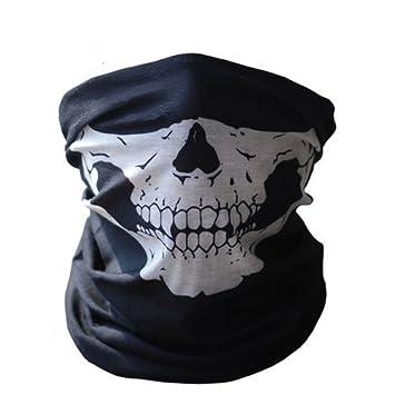 Máscara de calavera Ski motorista de la motocicleta máscara de Paintball bufanda, tamaño 1,