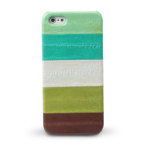 Zenus Prestige Natural Eel Bar Coque pour Apple iPhone 5/5S – Vert