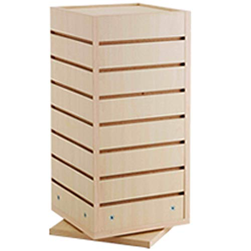 Countertop Spinner Slatwall Cube Retail Store Merchandise Display Maple NEW