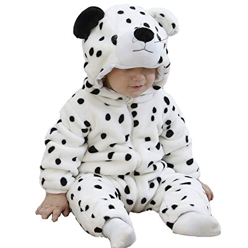 Tonwhar Unisex-Baby Animal Onesie Costume Cartoon Outfit Homewear (110:Ages 24-30 Months, Snow Leopard)