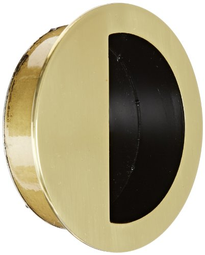 - Rockwood 95R.3 Cast Brass Round Flush Pull, 3-1/2