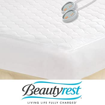 Amazon Com Beautyrest Queen Size Heated Electric Mattress Pad