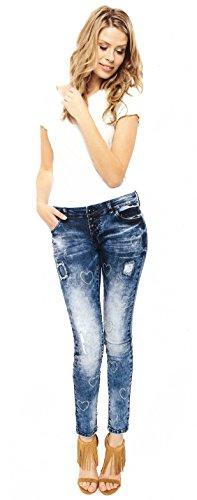 Jeans Blau Skinny Monkey Donna Basic Blue F5gqp
