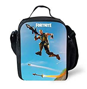 FORTNITE Lunch Bags Women Portable Functional Canvas Stripe Insulated Thermal Food Picnic Kids Cooler Lunch Box Bag Tote-x
