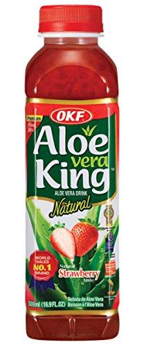 strawberry aloe vera juice - 1
