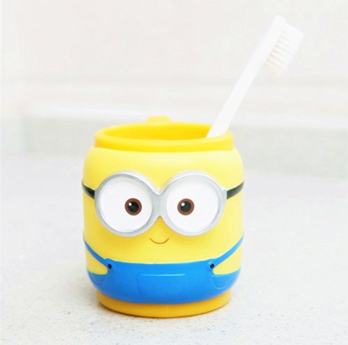 YOURNELO Babys Cartoon Adorable Simple Cute Bathroom Accessories Toothbrush Holder&Tumbler (Minions)