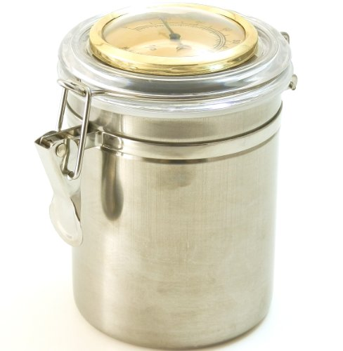 Pipe Tobacco Tin Can with Hygrometer & Humidifier ()