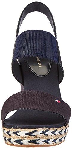 Hilfiger E1285lena Tommy Heels midnight Wedge 403 Blue Sandals Women's 44c1 Oxaqxgp