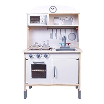 ColorBaby - Cocina madera con luz, sonido y accesorios, 70 x 37 x ...