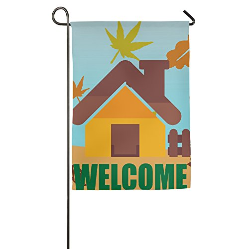 Welcome Cute House Polyester Home Garden Flag 1218inch (Penelope Movie Costumes)