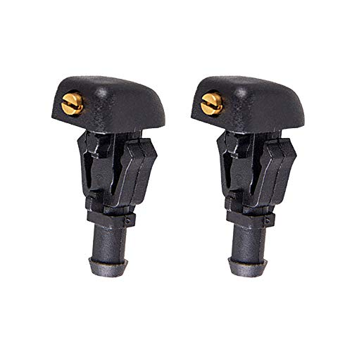 Front Windshield Washer Nozzles kit Replaces 3W7Z17603AA fits for 2004-2013 Ford F150 2009-2017 Ford Flex Spray Jet Kit 2 PCS