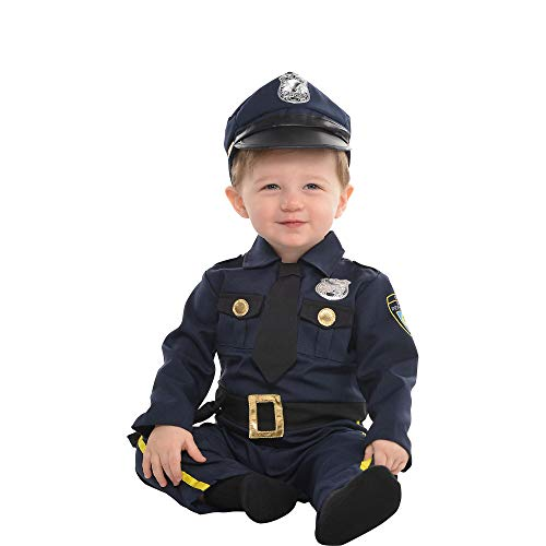AMSCAN Baby Cop Costume for Infants, 6-12 Months, with Included Accessories]()
