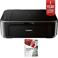 Canon Pixma MG3620 Wireless Inkjet All-In-One Multifunction Printer (0515C002) with PC Treasures Corel PaintShop Pro X9 & 1 Year Extended Warranty