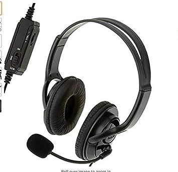 Auriculares estéreo con Cable para Videojuegos con micrófono para ...