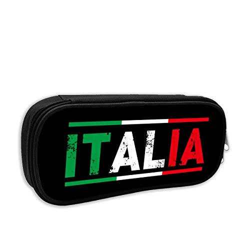 (S-charm Pencil Case Italian Flag Stationery Pencil Pouch Bag Case Cosmetic Makeup Bag)