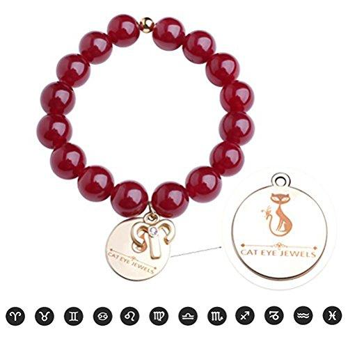 (Clearance) Lava Rock Zodiac Sign Bracelets, Birthstone Energy Beads Bracelet Discolor Mood Charms Bracelets for Mens Women