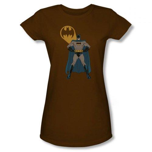 Juniors: Batman-Arms Akimbo Bats Juniors (Slim) T-Shirt Size XL