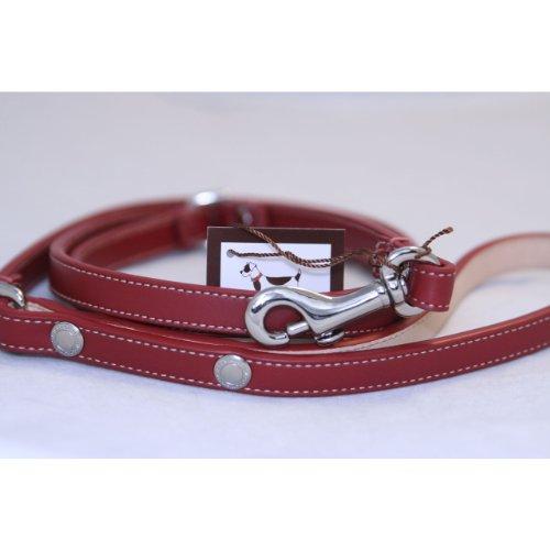 Coach Designer Dog Leash - Coach EST 1942 Classic Leash - Color: Red, Size: S