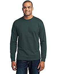Men's Tall Long Sleeve 50/50 Cotton/Poly T Shirt