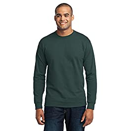 Port & Company Men's Tall Long Sleeve 50/50 Cotton/Poly T Shirt