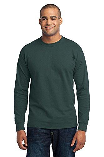 Port & Company Men's Long Sleeve 50/50 Cotton/Poly T Shirt XL Dark ()
