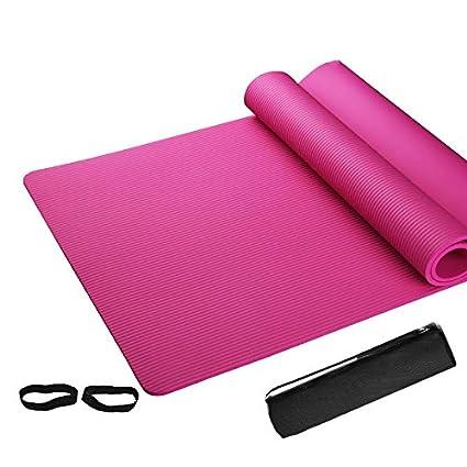 YOGA MAT - Colchoneta de Yoga, Color Rosa: Amazon.es: Hogar