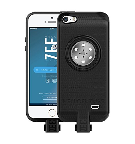 (HelloZEE Battery case iPhone 5/5s/SE- Built-in 128GB Memory+Battery 2600mAh+Wireless Charging+Led Light - Black (Apple Certified))