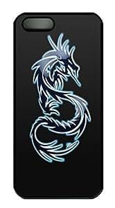 Blue Dog Minimal Animal HAC1014066 Custom PC Hard For Iphone 4/4S Phone Case Cover Black