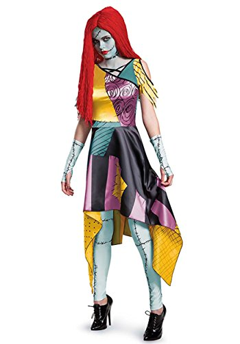 Disney Women's Sally Prestige Adult Costume, Multi, -