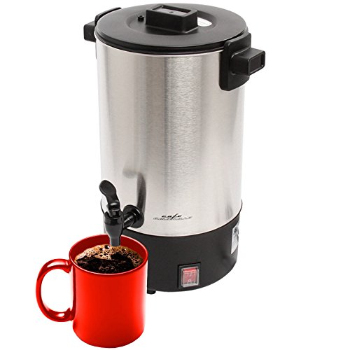 Cafe Amoroso 30 Cup Commercial Electric Coffee Maker (50 Cup Stainless Urn)