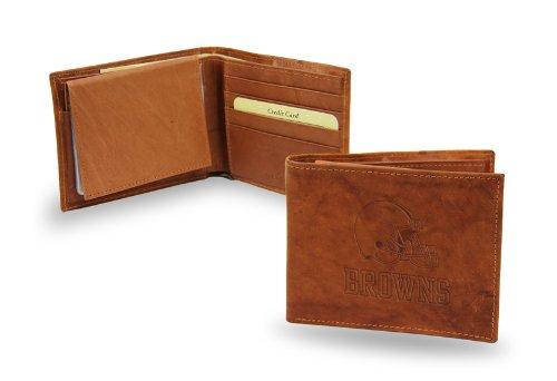 NFL Cleveland Browns Embossed Leather Billfold Wallet