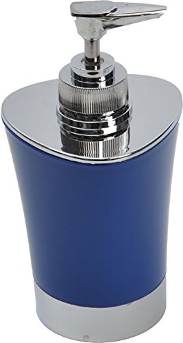 EVIDECO Bathroom Soap/Lotion Dispenser Shiny Color with Chrome Parts, Navy Blue