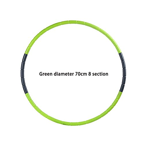 TT Rabbit Kindergarten Pupil Children's Hula Hoop Kids Outdoor Sports Toys Suitable for Children Aged 3 to 12 Color disassembly and Convenient ABA Plastic 65cm and 70cm (Green Diameter 70cm) ()