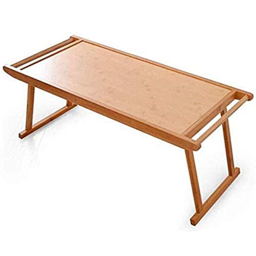 YCDJCS Mesas de Picnic Escritorio Mesa Plegable De Bambu Plegable Mesa De Cafe Al Aire Libre Barbacoa Camping Tabla Balcon Escritorio Regalo (Color : Brown, Size : 76 * 43 * 29 cm)