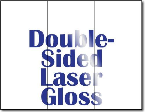 (38lb Bond Laser Gloss Tri-fold Brochures - 250 Glossy Brochures)
