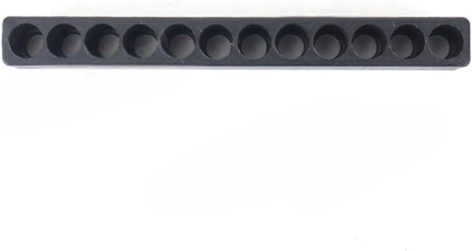 Ainstsk 10/Pcs 10/Trous 12 Holes As Picture Show 1//10,2/cm 12/Trous Tige hexagonale Tournevis Porte-Embout Plastique Tournevis T/ête /étui de Rangement