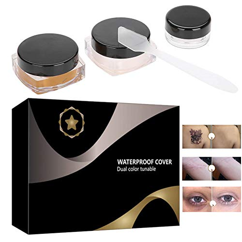 Tattoo Concealer Set, Professional Waterproof Makeup Concealer Cream for Cover Up Covers Vitiligo, Birthmarks, Scar, Tattoos and other Skin Dark Spots (Best Makeup To Cover Up Acne Scars)