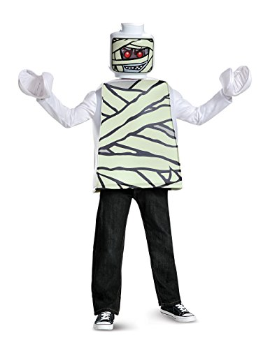 Disguise Lego Mummy Classic Costume, White, Small (4-6)