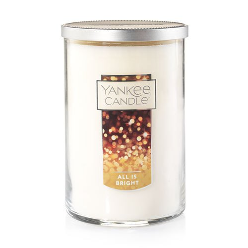 2 Wick Glass Candle - Yankee Candle Large 2-Wick Tumbler Candle, All is Bright